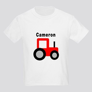 Cameron - Red Tractor Kids Light T-Shirt