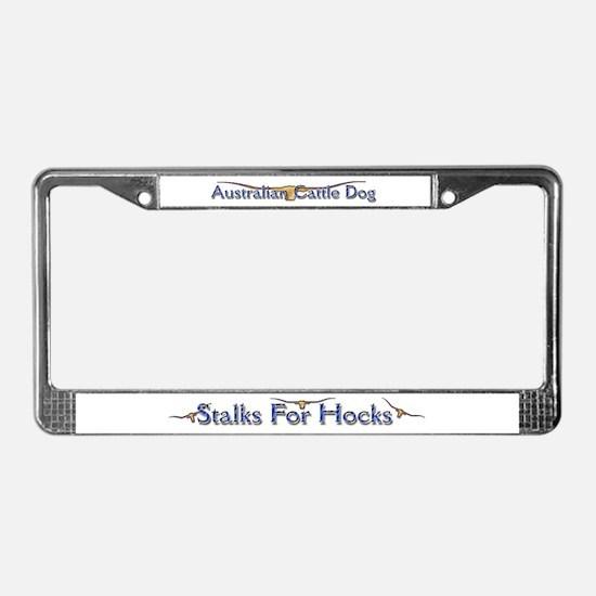 "AuCaDogs ""Stalks 4 Hocks"" License Plate Frame"
