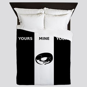 Yours Mine Dog Duvet Queen Duvet