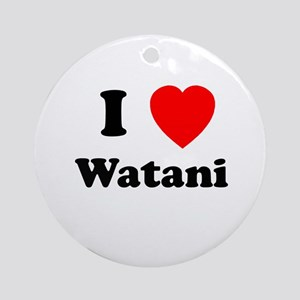 I heart Watani Ornament (Round)