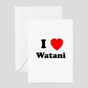 I heart Watani Greeting Card