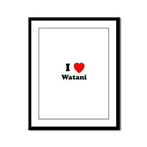I heart Watani Framed Panel Print