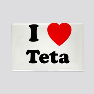 I heart Teta Rectangle Magnet