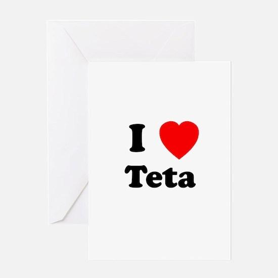 I heart Teta Greeting Card