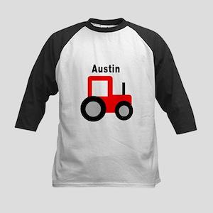 Austin - Red Tractor Kids Baseball Jersey