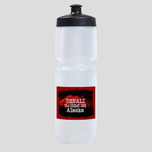 DENALI MOUNTAIN ALASKA RED Sports Bottle