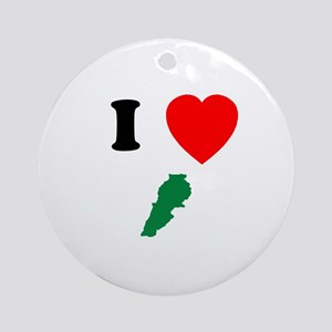 I heart Map Ornament (Round)