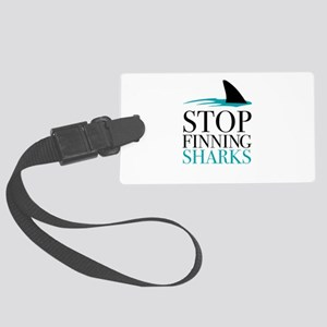 stop finning sharks Luggage Tag