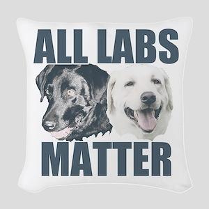 All Labs Matter Woven Throw Pillow