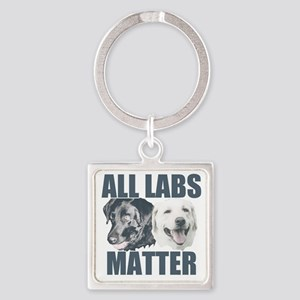 All Labs Matter Square Keychain