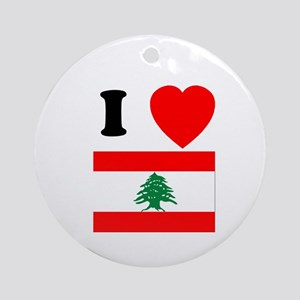 I Heart Flag Ornament (Round)