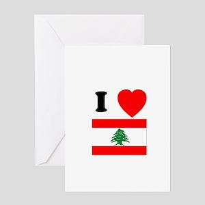 I Heart Flag Greeting Card