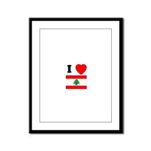 I Heart Flag Framed Panel Print