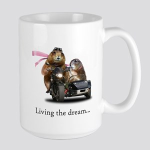 Prairie dogs, living the dream Large Mug