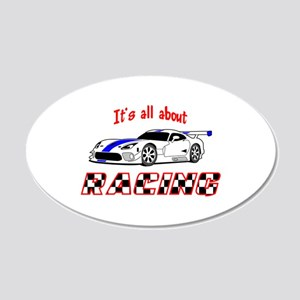 All About Racing Wall Decal