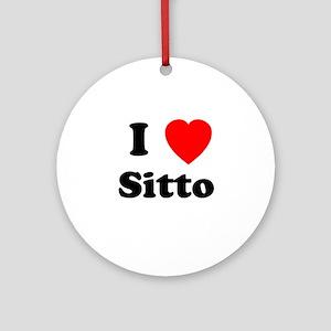 I heart Sitto Ornament (Round)