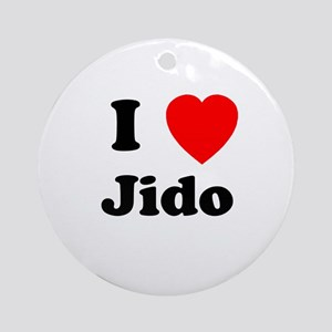 I heart Jido Ornament (Round)