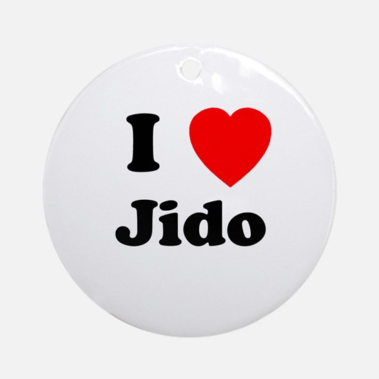 I heart Jido Ornament (Round)