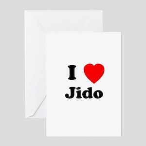 I heart Jido Greeting Card