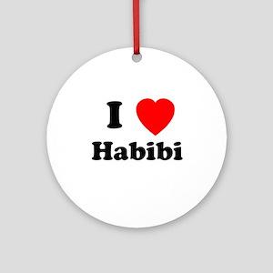 I heart Habibi Ornament (Round)