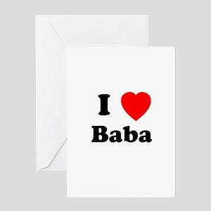I heart Baba Greeting Card
