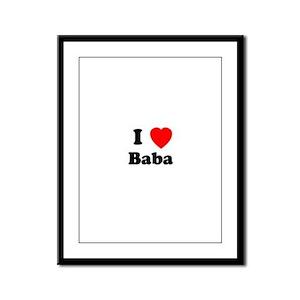 I heart Baba Framed Panel Print