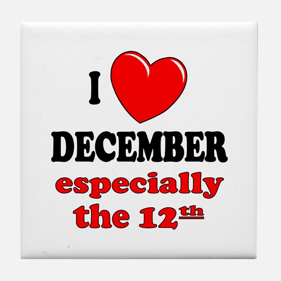 December 12th Tile Coaster