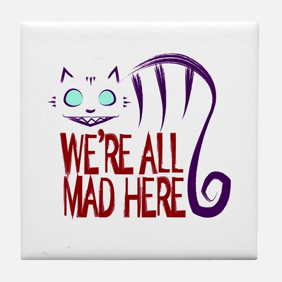 Cute Mad kitty Tile Coaster
