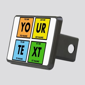 Your Text Periodic Element Rectangular Hitch Cover