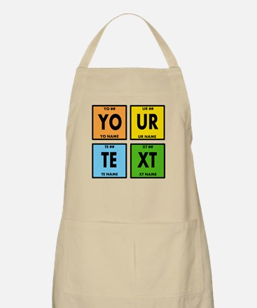 Your Text Periodic Elements Nerd Special Apron