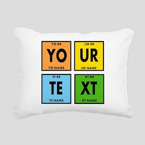 Your Text Periodic Eleme Rectangular Canvas Pillow