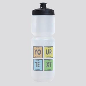 Your Text Periodic Elements Nerd Spe Sports Bottle