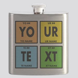 Your Text Periodic Elements Nerd Special Flask