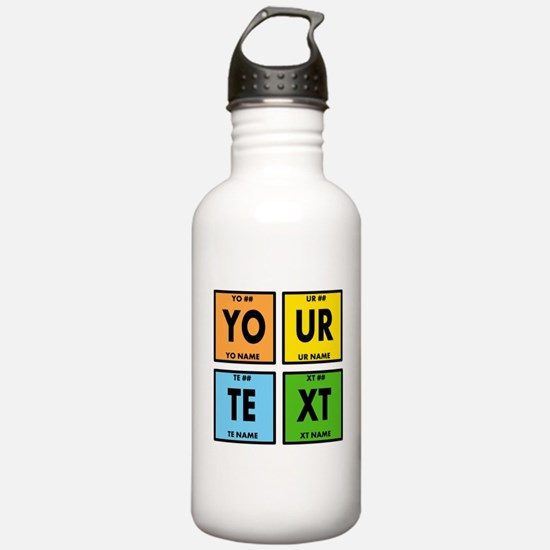 Your Text Periodic Ele Water Bottle