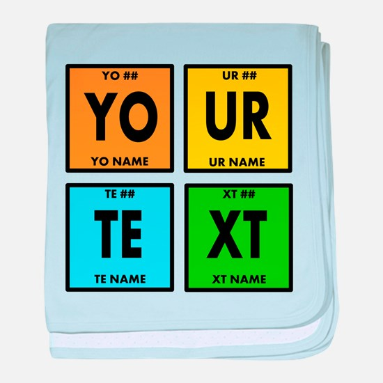 Your Text Periodic Elements Nerd Spec baby blanket