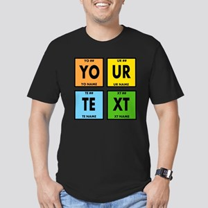 Your Text Periodic Ele Men's Fitted T-Shirt (dark)