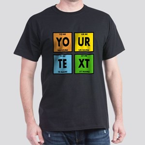 Your Text Periodic Elements Nerd Spec Dark T-Shirt
