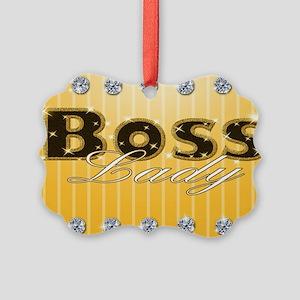 Boss Lady Diamond Life Picture Ornament