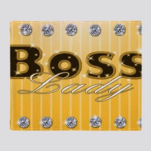 Boss Lady Diamond Life Throw Blanket
