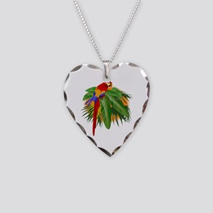 Parrot Necklace Heart Charm