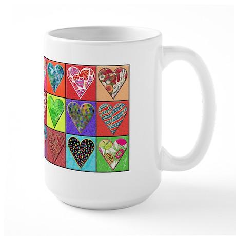 Heart Quilt Large Mug