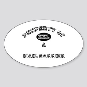 Property of a Mail Carrier Oval Sticker