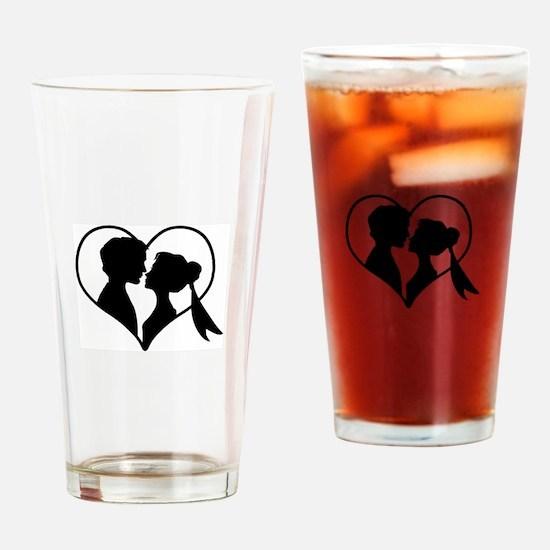 Wedding Heart Drinking Glass