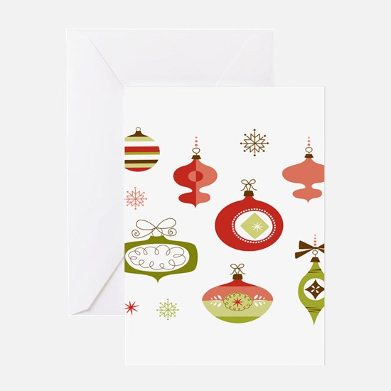 Mid Century Modern Ornament Pattern Greeting Cards