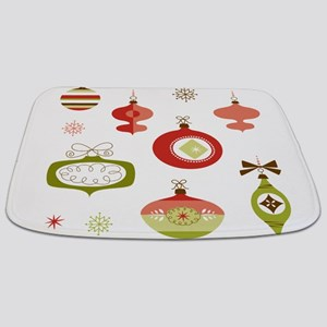 Mid Century Modern Ornament Pattern Bathmat