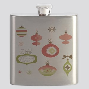 Mid Century Modern Ornament Pattern Flask