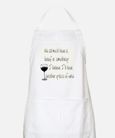 Believe In Wine Apron