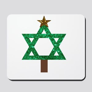 christmukkah christmas tree Mousepad