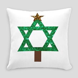 christmukkah christmas tree Everyday Pillow