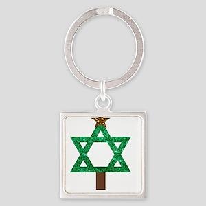 christmukkah christmas tree Keychains